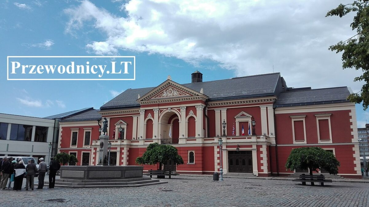 Klajpeda Litwa, plac teatralny